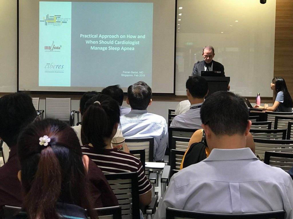 "Evening Talk with Dr. Ferran Barbe  ""Sleep Apnea and the Heart:  Current Evidence and Future Research Directions – Implications for the Cardiologist"